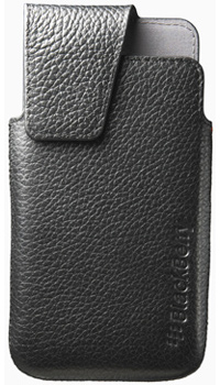 BlackBerry® Leather Swivel Holster – Black -