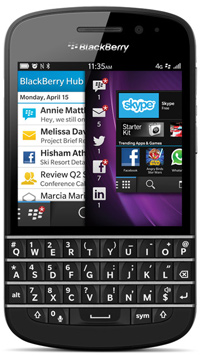 Le BlackBerry Q10